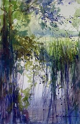 Painting - Zeeland Wetlands July 2017 by Sandra Strohschein