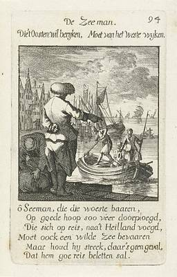 Drawing - Zeeman   Jan Luyken 1694 by R Muirhead Art