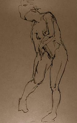 Male Nude Drawing Drawing - Zelda by Chris  Riley