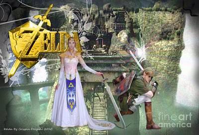 Spirt Digital Art - Zelda by Crispin  Delgado