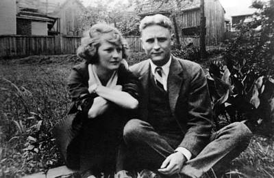 Zelda Fitgerald And F.scott Fitzgerald Print by Everett