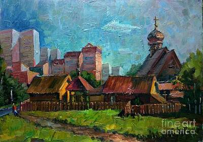 Painting - Zelenograd. Temple Filaret Metropolitan Of Moscow by Nina Silaeva