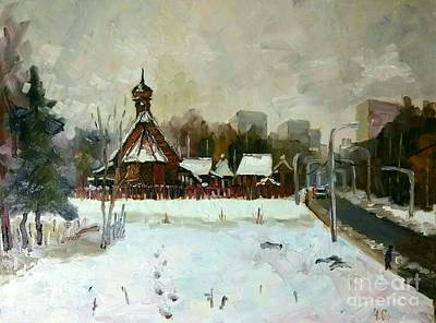 Painting - Zelenograd. Temple Filaret The Metropolitan Of Moscow In The Winter by Nina Silaeva