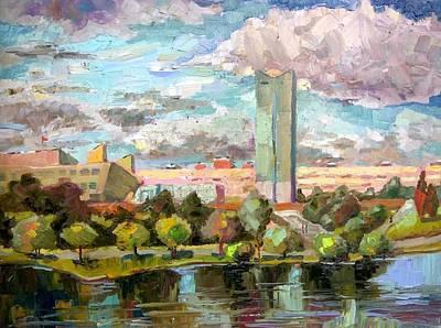 Painting - Zelenograd.victory Park by Nina Silaeva
