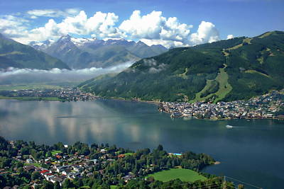 Zell Am See Panorama Art Print