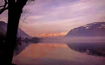 Wall Art - Photograph - Zell Am See Sunset by Adrian O Brien