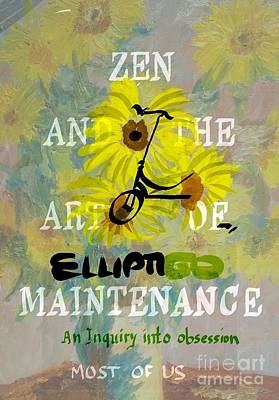 Painting - Zen And The Art Of Elliptigo Maintainence, A Parody by Francois Lamothe