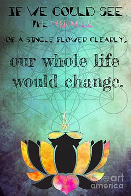 Love Digital Art - Zen Art Inspirational Buddha Quotes Happiness Life by Justyna JBJart