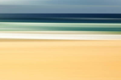 Motion Photograph - Zen Beach by Az Jackson