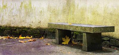 Benches Photograph - Zen Bench by Rebecca Cozart