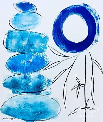 Painting - Zen Blues by Julie Hoyle