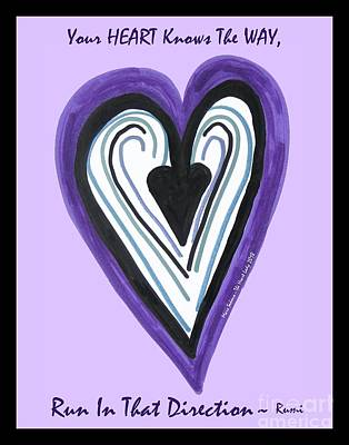Photograph - Zen Card Heart Path by Marlene Rose Besso