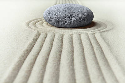 Photograph - Zen Garden - Concentration Stone by Dirk Ercken