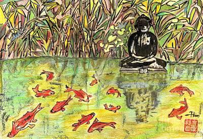 Feeding Mixed Media - Zen Garden by Irina Davis