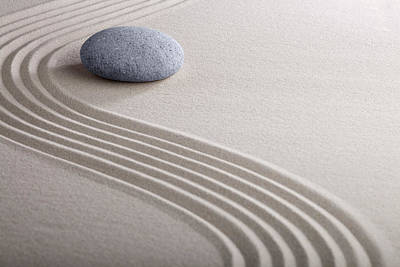 Photograph - Zen Garden - Meditation And Concentration Stone by Dirk Ercken