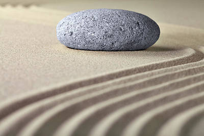 Photograph - Zen Garden - Sand And Stone by Dirk Ercken