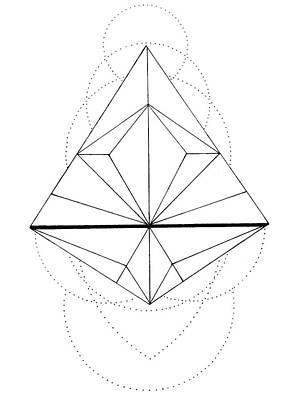 Abstract Shapes Drawing - Zen Geometry by Elizabeth Davis
