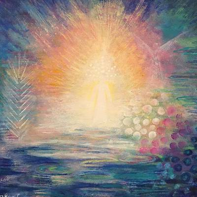Painting - Zen Goddess by Alexandra Florschutz