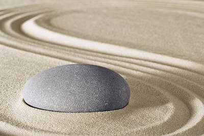 Photograph - Zen Harmony And Balance - Sand Garden by Dirk Ercken