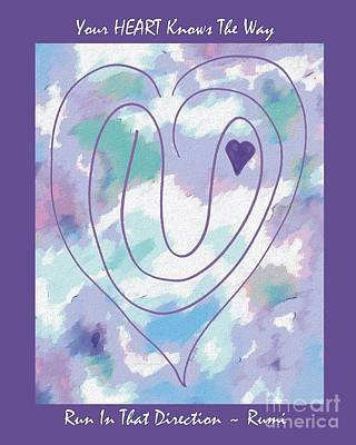 Photograph - Zen Heart Labyrinth Pastel by Marlene Rose Besso
