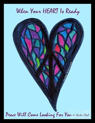Photograph - Zen Heart Peace Puzzle by Marlene Rose Besso