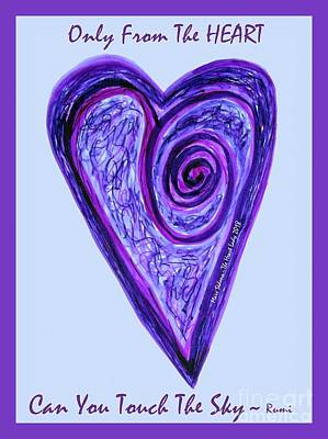 Photograph - Zen Heart Pink Purple Vortex by Marlene Rose Besso