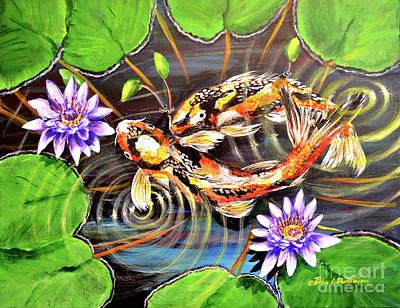 Painting - Zen Koirala Ripple Dance by Patricia L Davidson