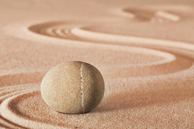 Photograph - Zen Meditation Sheng Fui Stone by Dirk Ercken