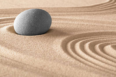 Photograph - Zen Meditation Stone And Sand by Dirk Ercken