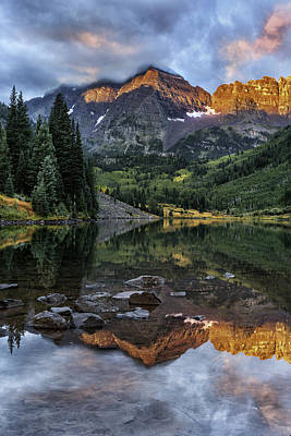 Photograph - Zen Moment At Maroon Lake by Expressive Landscapes Fine Art Photography by Thom