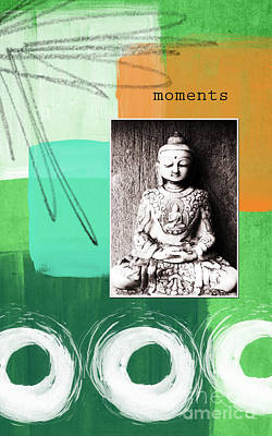 Buddha Mixed Media - Zen Moments by Linda Woods