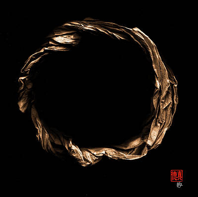 Sculpture - Zen Origami Enso 9 by Peter Cutler