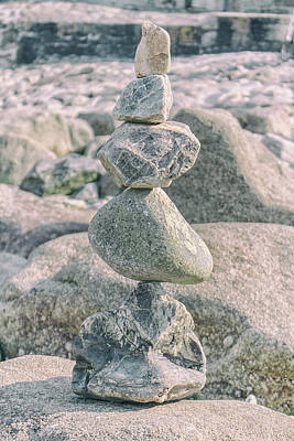Peace Tower Wall Art - Photograph - Zen Rocks by Martin Newman