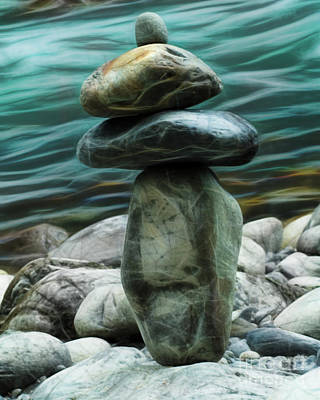 Photograph - Zen Rocks by Yulia Kazansky
