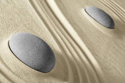 Photograph - Zen Sand And Stones Garden by Dirk Ercken