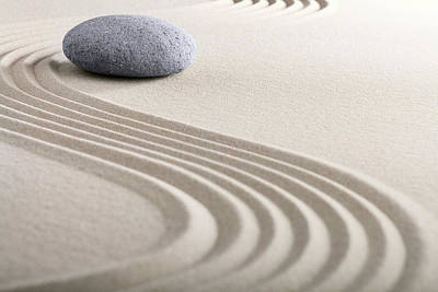 Photograph - Zen Sand Stone Garden - Harmony by Dirk Ercken