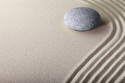 Photograph - Zen Sand Stone Garden Of Harmony by Dirk Ercken