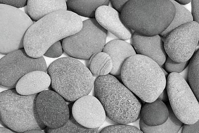 Photograph - Zen Stones Black And White by Kathi Mirto