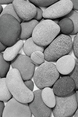 Photograph - Zen Stones II Black And White by Kathi Mirto