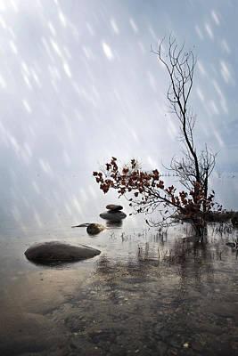 Desert Lake Photograph - Zen Stones by Joana Kruse