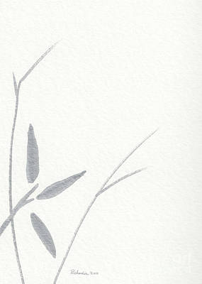 Mixed Media - Zen Sumi Flower 3a Ink On Watercolor Paper By Ricardos by Ricardos Creations