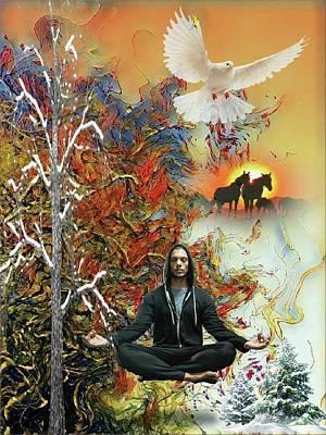 Mixed Media - Zen by Susanne Baumann