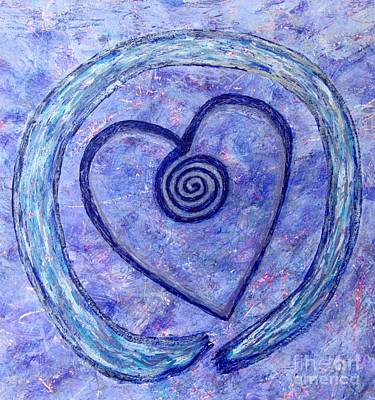 Photograph - Zen Vortex Heart Enso by Marlene Rose Besso