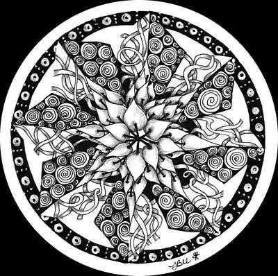 Drawing - Zendala Joy by Jan Steinle