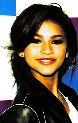 Aaliyah Mixed Media - Zendaya Coleman Shake It Up by Brian Reaves