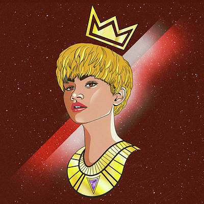 Drawing - Zendaya Drawing Illustration  by Kenal Louis