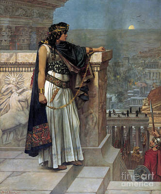 Zenobia's Last Look On Palmyra Art Print by Herbert Gustave Schmalz