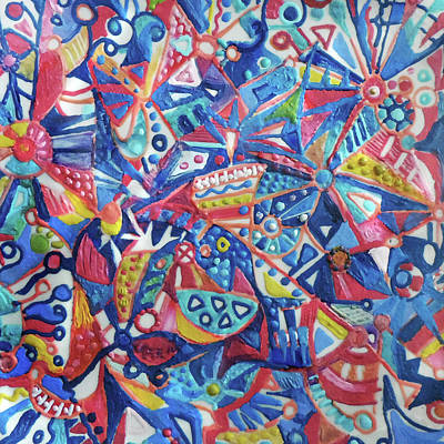 Painting - Zentangle 2 by Jean Batzell Fitzgerald
