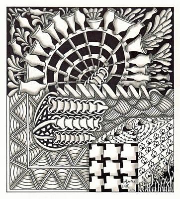 Asl Drawing - Zentangle Art G Hand by Martha Cuzzolino