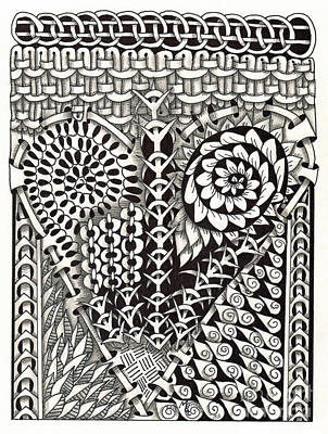 Asl Drawing - Zentangle Art L Hand by Martha Cuzzolino